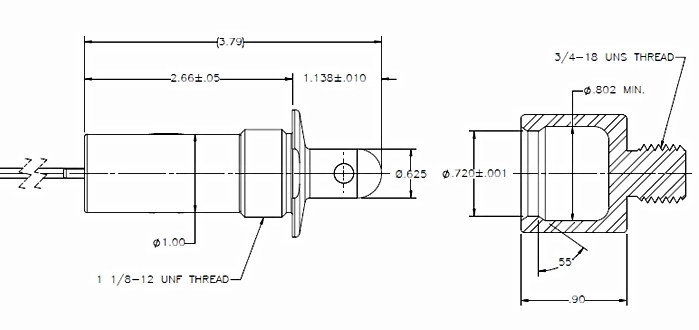 external-dimensions_ball-housing solenoid assembly